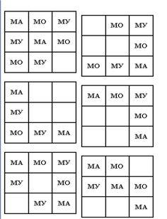"""Детский психолог Алена Решетова: Познавательное развитие дошкольников. Развивающая игра """"Магический квадрат"""" (цифры, буквы, слоги). Скачай и играй!"""