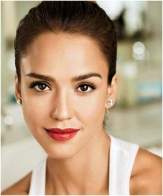 Jessica Alba face, flawless skin. http://www.acnecureforever.org/