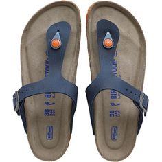 942bd06347e9 Birkenstock Gizeh Birko-Flor Desert Soil Sandals Blue