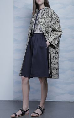Floral Jacquard Coat by DICE KAYEK for Preorder on Moda Operandi