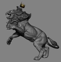Da King Lion от Krystal Сэ Эуа | Существа | 3D | CGSociety