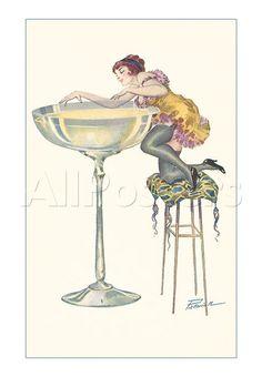 vintage champagne ad