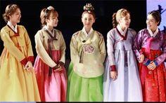Colorful Korean dresses