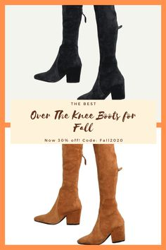 These boots are my fave in my closet. They come in three colors and are stretchy. They also stay up! TTS and comfortbale to walk in. Right now they are 30% off with code: Fall2020! #fallfashion2020 #overthekneeboots #fallboots #fallfashion #bootweather #boots #highboots #winterfashion