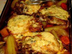 JuustoKyljykset Uunissa - Kotikokki.net - reseptit Croissants, Lasagna, French Toast, Roast, Healthy Recipes, Healthy Food, Chicken, Dinner, Breakfast