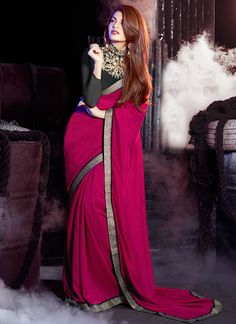 Sarees Online: Shop the latest Indian Sarees at the best price online shopping. From classic to contemporary, daily wear to party wear saree, Cbazaar has saree for every occasion. Trendy Sarees, Stylish Sarees, Saris, Indian Dresses, Indian Outfits, Sarees For Girls, Party Wear Sarees Online, Star Wars, Saree Blouse Designs