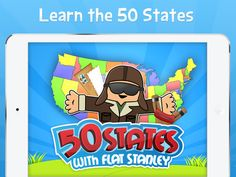 Learn the 50 states with Flat Stanley