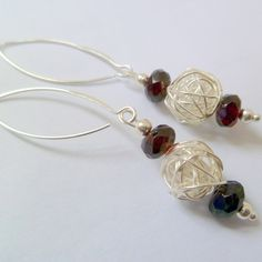 Silver and Garnet Earrings £18.00