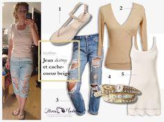 J'adore les jeans déchirés, et vous ? Sans doute parce que les gens me demandent si on me l'a vendu comme ça… Voici une façon chic de porter un jean sauvagement destroy. …