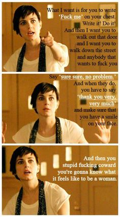 Even though I couldn't stand Jenny on The L Word, this was one of the best things anyone said in the series.