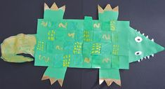 My talented first graders have been working on these gator weavings. I wish I could credit the original idea, which I saw on pinterest--bu...