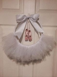 Items similar to White Sparkle Tutu door wreath on Etsy – Decorative hanger Paper Flowers Craft, Flower Crafts, Tutu Wreath, Dance Crafts, Baby Shower Deco, Easy Fall Crafts, Diwali Decorations, Diy Ribbon, Little Girl Rooms