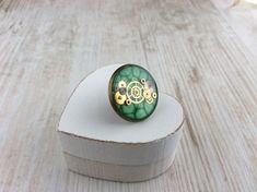 Your place to buy and sell all things handmade Wedding Cufflinks, Green Tie, Green Hats, Tie Pin, Cogs, Hat Pins, Glass Domes, Green Wedding, Print Pictures