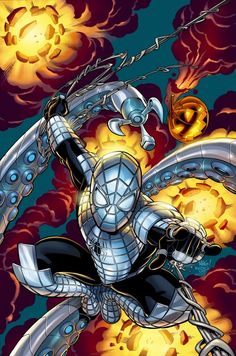 "#Spiderman #Fan #Art. (Marvel Knights: Spider-Man The Other ""Spider-Armor Mk1"" Vol.1 #21 Variant Cover) By: Mike Wieringo & Karl Kesel & Paul Mounts. (THE * 5 * STÅR * ÅWARD * OF: * AW YEAH, IT'S MAJOR ÅWESOMENESS!!!™)[THANK Ü 4 PINNING!!!<·><]<©>ÅÅÅ+(OB4E)"