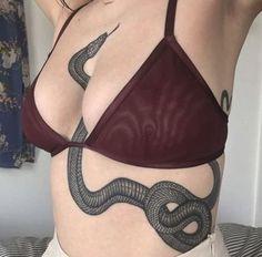 Snake tattoo – snake tattoo – tattoo - Famous Last Words Tattoo Snake, Tatto Skull, Black Snake Tattoo, Tiny Tattoo, Tattoo Girls, Small Girl Tattoos, Stomach Tattoos Women, Tattoos For Women, Woman Tattoos