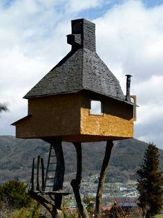 A tea house in Chino, Nagano Prefecture, Japan by  Edmund Sumner.