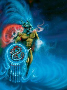 Ehecatl Aztec god of wind.