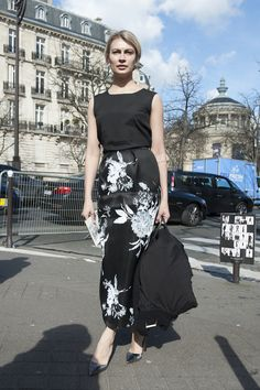 street style: Paris Fashion Week Fall 2014... We can never resist a great floral print.