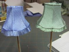 Dollhouse Miniature Furniture - Tutorials | 1 inch minis: November Project, Lamp Shade, Part 1