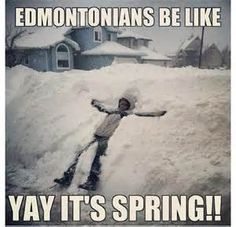 Yup, this is normal for Edmonton. I love how they called us Edmontonians, but I guess I've called the people of Edmonton that too Canadian Things, I Am Canadian, Canadian Winter, Canadian Humour, Canadian Memes, Canada Funny, Canada Eh, Meanwhile In Canada, North Dakota