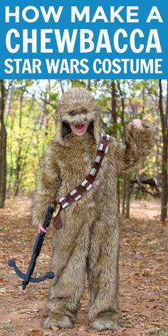 Learn how to make a Chewbacca Star Wars Costume with our tutoriat. #starwarscostume #chewbaccacostume