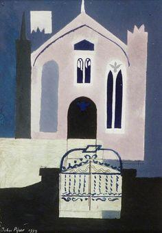 john piper(1903–92), welsh chapel, solva, pembroke, 1939. oil on board, 21 x 15 cm. llyfrgell genedlaethol cymru / the national library of wales http://www.bbc.co.uk/arts/yourpaintings/paintings/welsh-chapel-solva-pembroke-121097