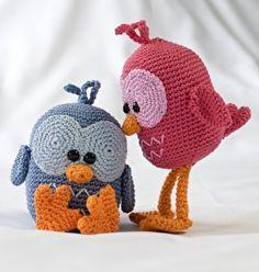 Haakpatroon Vogel Vayen #haken #haakpatroon #vogel #amigurimi #gehaakt #knuffel #crochet #crocheting #crochetpattern