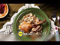 Széll Tamás - Ludaskása birsalmás-köményes lilakáposzta-salátával - YouTube Lidl, Food Videos, Recipe Videos, Good Food, Meat, Chicken, Recipes, Youtube