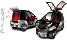 "Toyota Unveils Super-Compact Car    Toyota unveiled its own version of a ""smart car,"" a single-seater called Smart INSECT (short for ""Information Network Social Electric City Transporter"")."