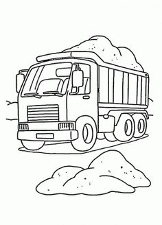 Taa is for Turab ( Dirt, تراب) Dump truck load of soil in a work coloring page Camping Coloring Pages, Tractor Coloring Pages, Truck Coloring Pages, Coloring For Kids, Coloring Pages For Kids, Coloring Books, Transportation For Kids, Truck Tattoo, Construction Logo