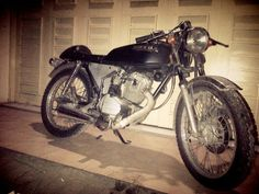 This is honda gl 100 vintage cafe racer from indonesia west java