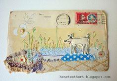 vintage envelope artwork