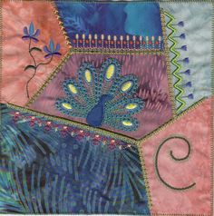 Crazy Quilt Machine Embroidery Block