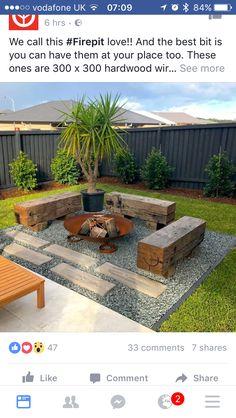 Backyard Fire Pit Area Fence 46 Ideas For 2019 Backyard Seating, Backyard Patio Designs, Small Backyard Landscaping, Fire Pit Backyard, Garden Seating, Terrace Garden, Landscaping Ideas, Backyard Ideas For Small Yards, Garden Fire Pit