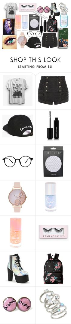 """purple hair, blue eyes."" by nogenderedkid ❤ liked on Polyvore featuring Pierre Balmain, Boohoo, Marc Jacobs, Topshop, Olivia Burton, Vans and Kendra Scott"