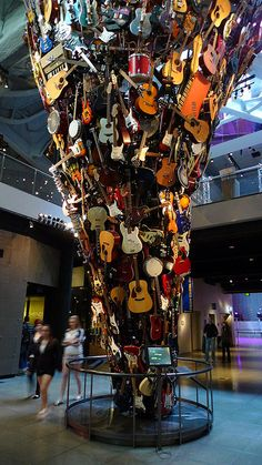 EMP Musical Instruments Sculpture    An explosion of guitars at the Experience Music Project.