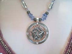 Morning Sky Pentacle Necklace wiccan jewelry pagan by Sheekydoodle, $34.00
