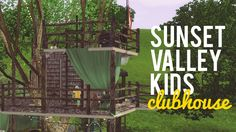 The Sims 3 Speed Build— Sunset Valley Tree Clubhouse — 10x10 Challenge ~cheat to delete bottom of counter!!