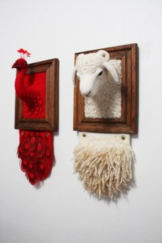 Zoe Williams - interesting needle felting  Frames not just for pictures!