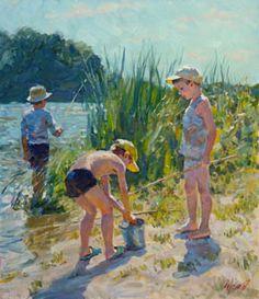 """Sunny day"" by Vladimir Gusev,  2015, oil on canvas, 70x60 cm."