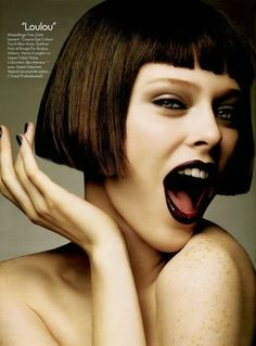 Bobbed hairstyle for Coco Rocha