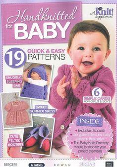 Baby Knitting Patterns Sleep Sack Lets Knit 63 2013 02 Handknitted for baby Baby Cardigan Knitting Pattern Free, Baby Boy Knitting Patterns, Baby Sweater Patterns, Baby Girl Patterns, Knit Baby Sweaters, Baby Knits, Crochet Patterns, Cardigan Pattern, Sewing Patterns
