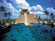The Atlantis, Bahamas. seriously the sickest water slide on the planet.