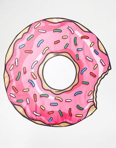 Image 1 of Big Mouth Donut Beach Blanket