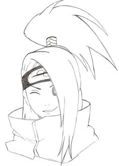 Naruto Drawings, Naruto Sketch, Anime Drawings Sketches, Anime Sketch, Otaku Anime, Anime Naruto, Anime Boy Zeichnung, Cute Doodle Art, Anime Pixel Art