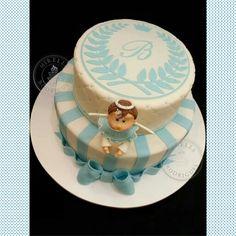 Baptism cake by Mirella Rodrigues