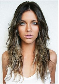 Rich brown ombre with dark ash blonde,