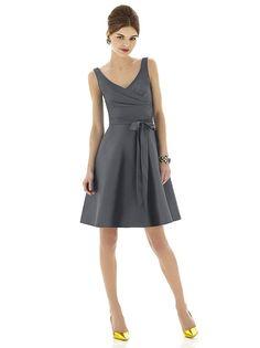 Alfred Sung Style D624 http://www.dessy.com/dresses/bridesmaid/d624/?color=ebony&colorid=1070#.Ui6Pcsu9KSM