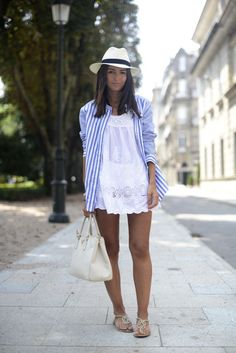 Alexandra, stripes over white.