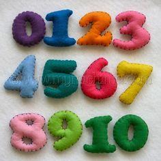 #kids #felt #numbers